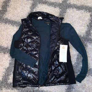 NWT  Black Womans Puffer Vest